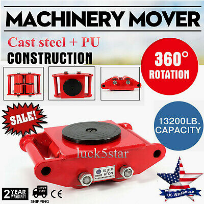 $52.60 • Buy Heavy Duty Machinery Mover Dolly Skate Roller Machine 6T 13200lb Rotation Cap US