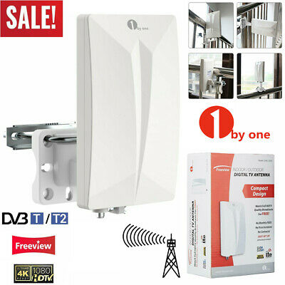 1byone HDTV Antenna Aerial HD Digital TV Signal Amplified Booster Outdoor/Indoor • 18.99£