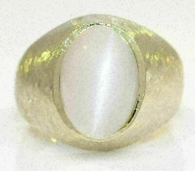 $600 • Buy Men's 14k Yellow Gold Ring With 5.00 Ct Moonstone #l13