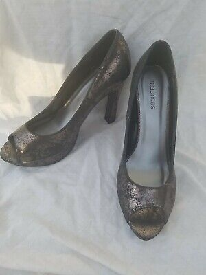 Sexy Maurices Women's Shoes Size 8M Pewter 5 Inch Heel.peep Toe  • 10.10£