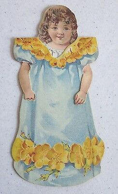 Antique Barbour's Irish Flax Thread Little Buttercup Paper Doll • 15.01£