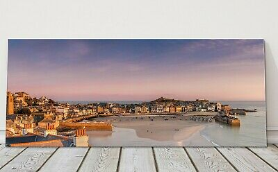 St Ives Harbour Sunrise Panoramic Canvas Print Cornwall Framed Picture • 39.95£