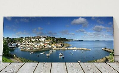 £24.95 • Buy Mevagissey Harbour Panoramic Canvas Print Cornwall Framed Picture
