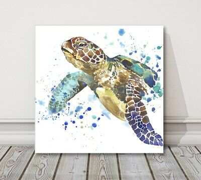 £13.95 • Buy Sea Turtle Painting Canvas Picture Print Modern Art