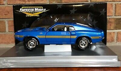 $89.99 • Buy 1969 Shelby Gt-500 Ertlrc American Muscle, Blue With Gold Striping