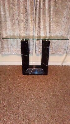 £600 • Buy Black Marble Table With Glass Top. TV Stand, Coffee Table And Side Table.