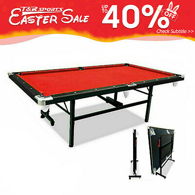 AU577.99 • Buy 2020 New Design 7FT Red Foldable / Fold Away Pool/Billiard Table Free Accessory