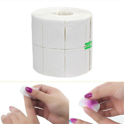 500Pcs Cotton Nail Wipes Pads Removing UV LED Gel Varnish Dust Lint Free Cleaner • 3.89£