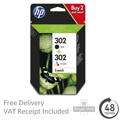 Genuine HP 302 Black & Colour Combo Original Ink Cartridges X4D37AE • 29.95£