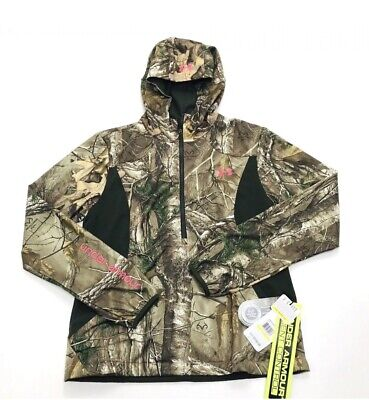 7896062595c67 Under Armour Camo Pullover Jacket RealTree Zip Hunting Women Size Medium  $140 • 49.87$