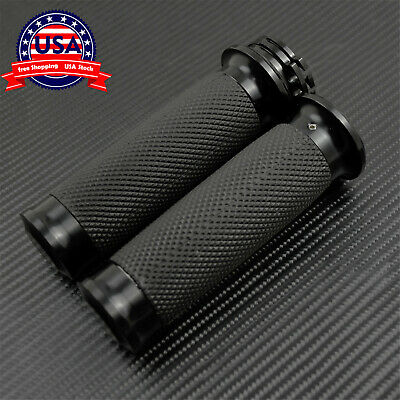 "$14.59 • Buy 1"" Black Handle Bar Hand Grips Fit For Harley Touring Sportster XL883 XL1200"