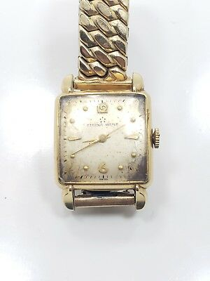 Vintage Antique 14k Yellow Gold Filled Eterna Matic Mens Wrist Watch • 125.22£