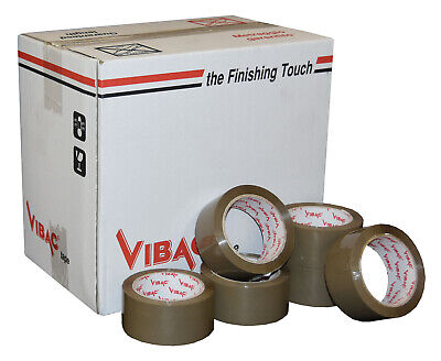 24 x 48mm x 66M CLEAR VIBAC HOT MELT PACKING PARCEL TAPE