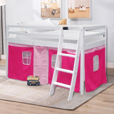 Bunk Cabin Bed Mid Sleeper Pine Children 3ft Single Sleepstation Girls Bedroom • 148.95£