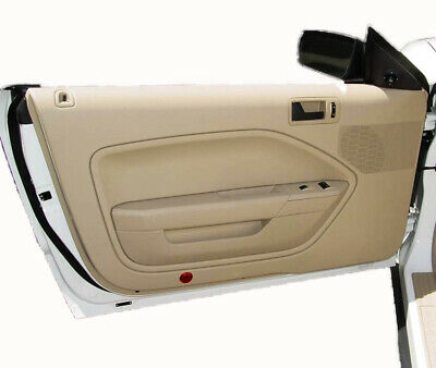 $29.24 • Buy Fits 05-09 Ford Mustang Synthetic Leather Beige Padded Door Panel Insert Cards