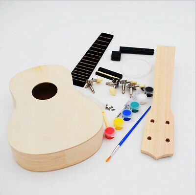 AU29.95 • Buy Ukulele DIY Kit Miniature UKE Guitar Instrument Wooden Paint Build Vacoosh NEW
