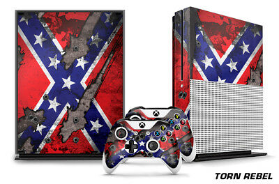 $11.65 • Buy Designer Skin For XBOX ONE S 1S Gaming Console+2 Controller Sticker Decal TORN R