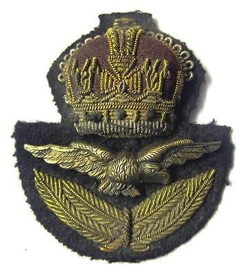 £29.99 • Buy RAF Officer Cap Badge WW2 WWII Hat & Eagle Kings Crown Royal Air Force KC Aged