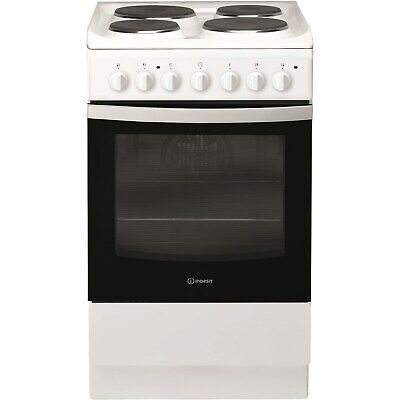£199.96 • Buy INDESIT IS5E4KHW 50cm Single Oven Electric Cooker With Electric Hob - White