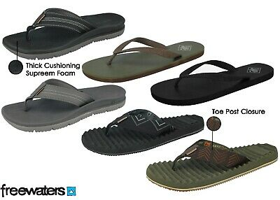 Mens Freewaters Toe Post EVA Cushion Lightweight Sporty Active Beach  Flip Flops • 9.99£