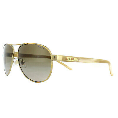 Ralph By Ralph Lauren Sunglasses 4004 101/13 Gold Cream Brown Gradient • 65£