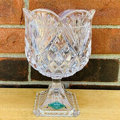 $25 • Buy Shannon Crystal Glass Designs Of Ireland Lead Crystal 7  Vase Candy Bowl