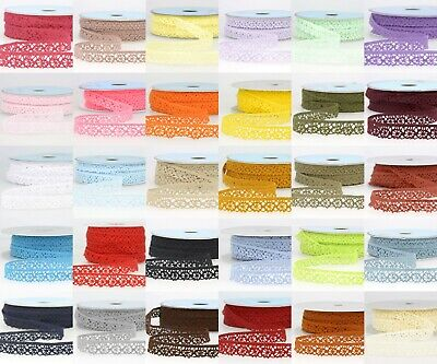 La Stephanoise 15mm Cotton Cluny Crochet Lace Ribbon - 36 Colours • 1.35£