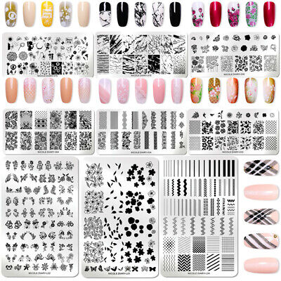 $1.46 • Buy NICOLE DIARY Nail Stamping Plates Flower French Geometry Nail Art Image Template