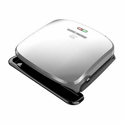 George Foreman 4-Serving Removable Plate Grill And Panini Press, Platinum • 34.35£