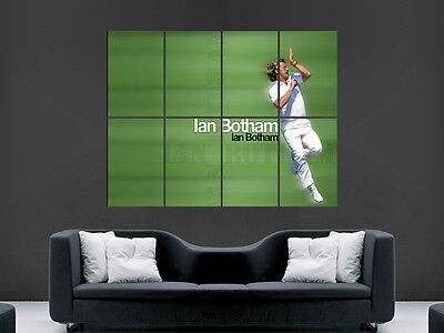 Ian Botham Cricket Legend Giant Wall Poster  Picture Print Large Huge • 17.99£