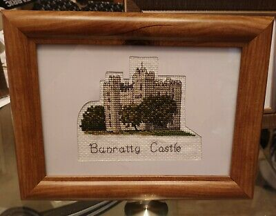 Bunratty Castle  Framed Finished Cross Stitch Handmade Decoration Gift • 67£