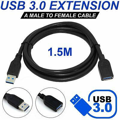 AU5.59 • Buy 1.5 M USB 3.0 Extension Extender Cable Cord M/F Standard Type A Male To Female