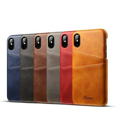 AU22.70 • Buy Case For IPhone X IPhone 10 PU Leather With Card Holder Pockets