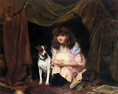 £14.95 • Buy Charles Burton Barber - The Hiding Place  - 24'  CANVAS