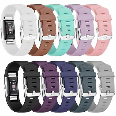$ CDN11.60 • Buy Fitbit Charge 2 Replacement Silicone Watch Wrist Sports Band Strap Small / Large