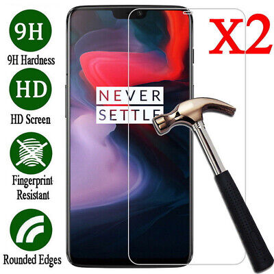 AU3.28 • Buy For OnePlus 6T 6 5T 5 3T 3 2 Accessory Tempered Glass Screen Protector Film 2pc