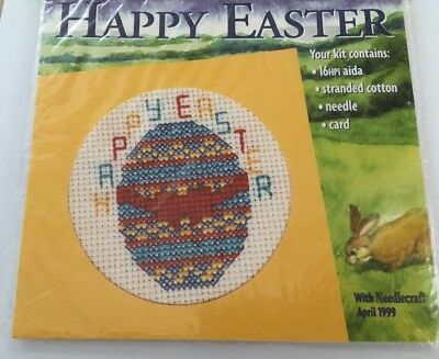 Easter Card  Cross Stitch Kit No Chart • 2.59£