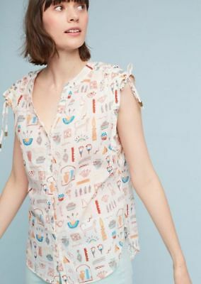 $ CDN31.83 • Buy Nwt Anthropologie Brooklynite Printed Top- Size Large