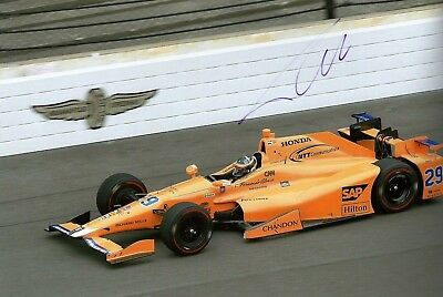 Fernando Alonso 2017 Indianapolis Indy 500 Signed Photo McLaren F1 Driver • 49.99£