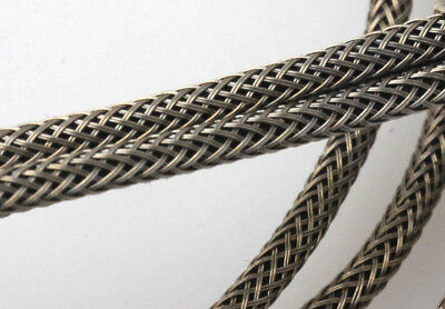 £4.25 • Buy #22 AWG Cloth 7-Strand Copper Hook-Up Wire 2 Strand BRAIDED METAL SHIELD