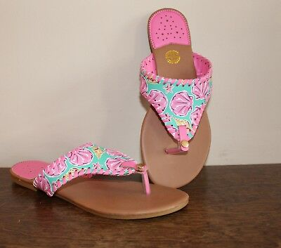 4cdea96aadca Simply Southern Sandals Flip Flops Thong Pink Teal Sea Shell Size 7 NWT s  -NEW •
