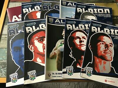 £3.50 • Buy West Brom WBA Home Programmes 2009/10 2010/11 2011/12 League & Cup
