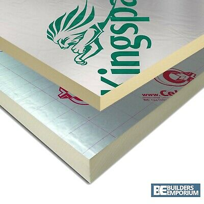 £14.49 • Buy Ecotherm / Celotex / Kingspan / Recticel PIR Insulation Boards 2400x1200mm
