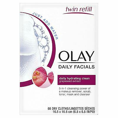 AU32.62 • Buy Olay Daily Facials 4-in-1 Water Activated Cloths 66 Count