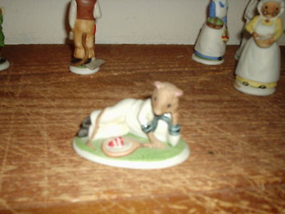 Franklin Mint 1985 The Woodmouse Family Harold Porcelain Figurine • 1.99$