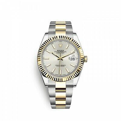 $ CDN16219.64 • Buy New Rolex Datejust 41 Mm Steel And 18k Yellow Gold Watch 126333 Silver Index