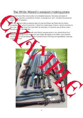 £10 • Buy LARP Weapon Making Guide, Build Or Construct Your Own Weapons Boffer PDF
