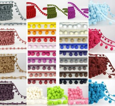 Pom Pom Trim Stephanoise Trimits 6mm 10mm 15mm 50mm Top Quality Craft Fringing  • 2.99£