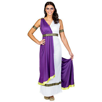 Women's Costume Olympic Goddess Minerva Halloween Fancy Dress Outfit Carnivall • 26.99£