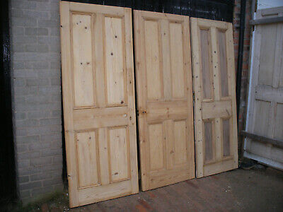 Reclaimed Victorian 4 Panel Stripped Pine Doors. • 120£